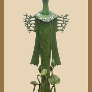 DURGA by Subrata Paul, Art Deco Sculpture | 3D, Bronze, Beige color