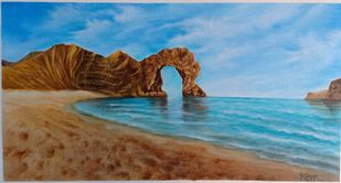 Seascape by Kumar Ranadive, Expressionism Painting, Acrylic on Canvas, Brown color