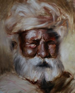 Glimpse of rajasthan by Akash srivastava, Expressionism Painting, Oil on Paper,