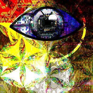 Bio Mechanical Consciousness by Arvind A, Digital Digital Art, Digital Print on Paper, Brown color
