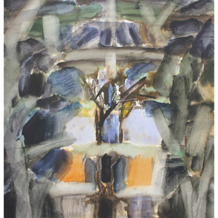 untitled w by mahesh nirantare, Abstract Painting, Watercolor on Paper,