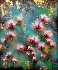 Blossom 1 by Ankita Dey Bhoumik, Expressionism Painting, Acrylic on Canvas,