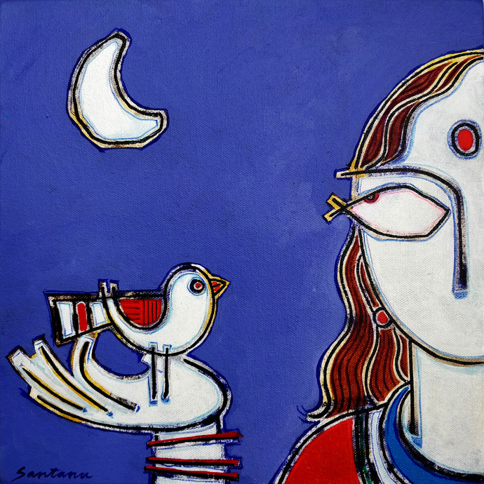 Freedom 2 by Santanu Nandan Dinda, Expressionism Painting, Acrylic on Canvas,