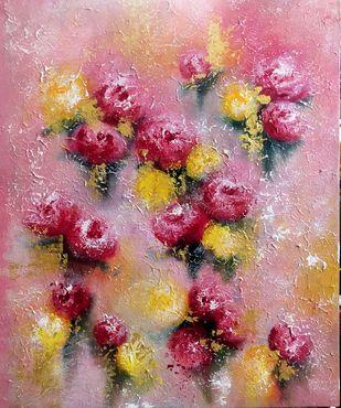 Blossom 2 by Ankita Dey Bhoumik, Impressionism Painting, Acrylic on Canvas,