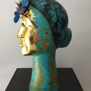 Maya 2 by Romicon Revola , Art Deco Sculpture | 3D, Oil and Acrylic on fiber glass, Outer Space color