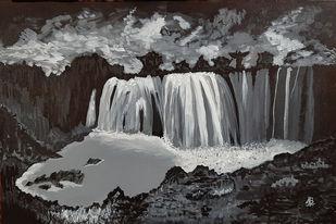 Night Fall Digital Print by Tejal Bhagat,Impressionism
