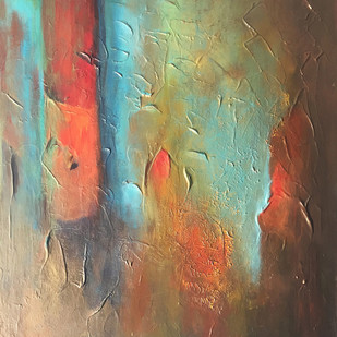 Poetry in Gold 7 by Shan Re, Abstract Painting, Acrylic on Canvas, Shadow color