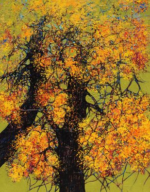 tree of life by Bhaskara Rao Botcha, Expressionism Painting, Acrylic on Canvas, Alpine color