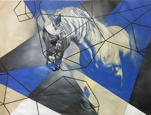 Equine - Kaiser The passion Digital Print by Neerajj Mittra,Geometrical