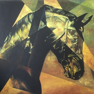 Equine - The Kaiser Digital Print by Neerajj Mittra,Geometrical