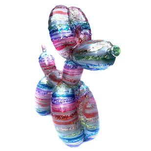 "Galactic Balloon Dog"" Custom 10"" Jeff Koons""Balloon Dog' by Josh Mayhem, Art Deco Sculpture | 3D, ACRYLIC & RESIN ON VINYL, Waterloo color"