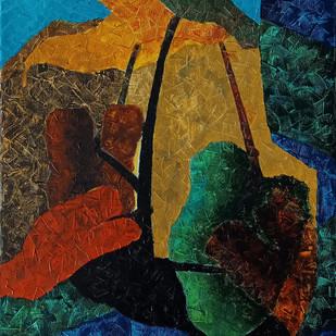 Unlocked hues in Lockdown by Jaikishan Tada, Abstract Painting, Acrylic on Canvas, Paarl color
