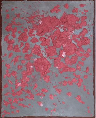 The Parables of Time - 3 by Rashmi Khurana, Abstract Painting, Mixed Media on Canvas, Bazaar color