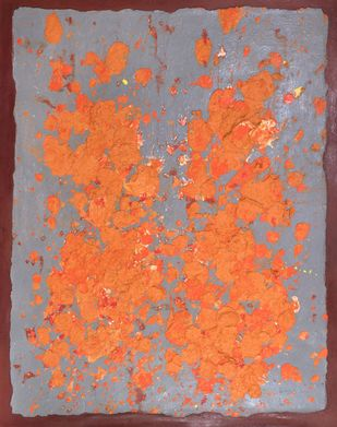 The Parables of Time - 4 by Rashmi Khurana, Abstract Painting, Mixed Media on Canvas, Sandrift color