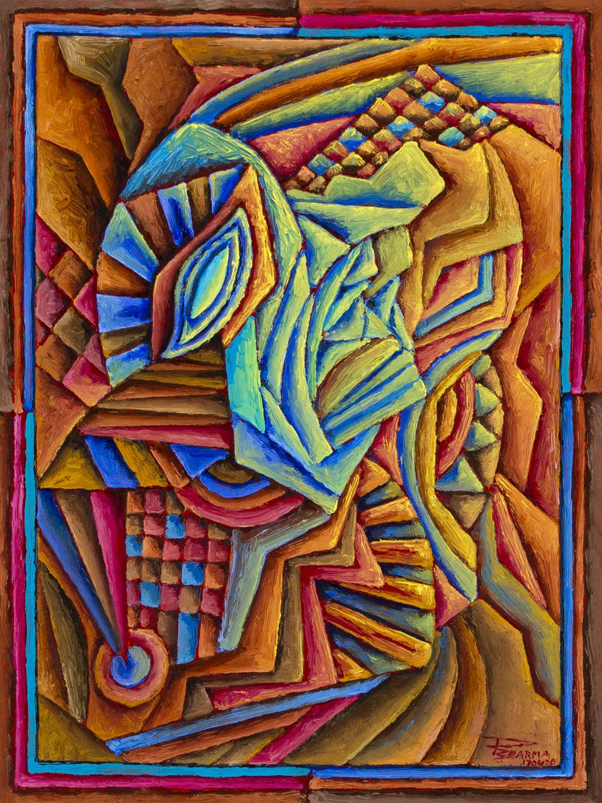 Untitled 170420 Digital Print by Ratish Sharma,Geometrical