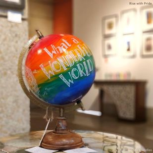 Rise with Pride by Chayanika Sood, Art Deco Sculpture | 3D, Acrylic on Wood, Mongoose color