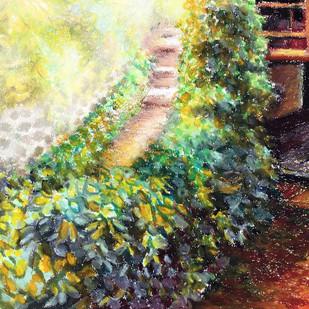 A garden hedge Digital Print by Shalini Sinha,Expressionism
