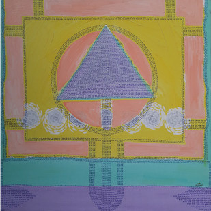 Ram ii by Jignesh Jariwala, Geometrical Painting, Acrylic on Canvas, Arrowtown color