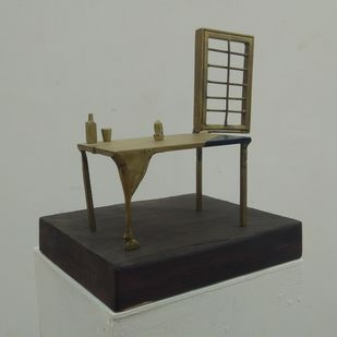 Blue Corner by Rutvik Mehta, Art Deco Sculpture | 3D, Brass,