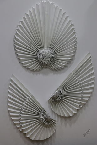 Conquer Your Dreams by Asha Gulati, Art Deco Sculpture | 3D, Hand Cut Paper, Gray color
