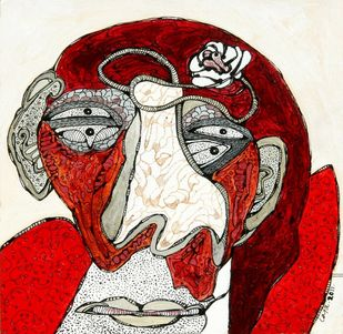 Untitled by Jaya Ganguly, Fantasy Painting, Acrylic on Canvas, Tabasco color