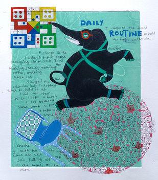 Jo jahan hein wahin rahe by Sonal Varshneya, Pop Art Painting, Watercolor on Paper, Tradewind color