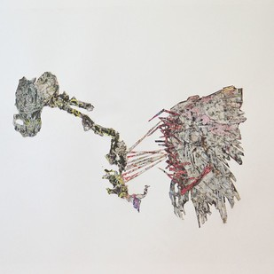 Metamorph by Viraag Desai, Minimalism Painting, Formed Paper, Mercury color