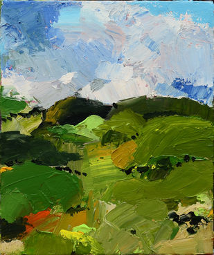 A nature walk by Mitisha, Expressionism Painting, Acrylic on Canvas, Clover color