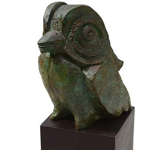 The Little Bird by Atish Mukherjee, Art Deco Sculpture | 3D, Bronze, Rangitoto color