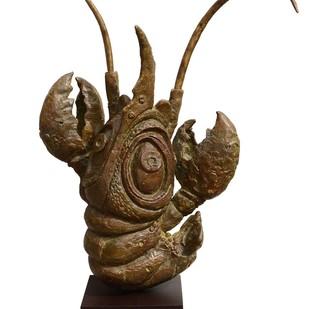 The Queen by Atish Mukherjee, Art Deco Sculpture   3D, Bronze, Metallic Bronze color