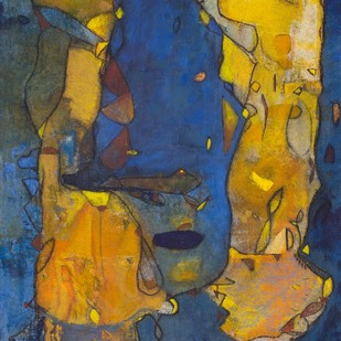 Here and Now by Deveshi Goswami, Abstract Painting, Mixed Media on Cloth, River Bed color