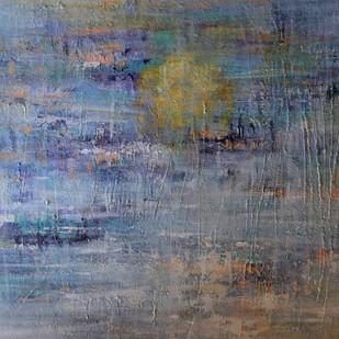 Ocean's Call by Mahesh Sharma, Abstract Painting, Acrylic on Canvas, Pale Sky color