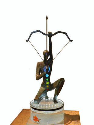 Yogic Concentration by Shashi Paul, Art Deco Sculpture | 3D, Bronze, Hillary color
