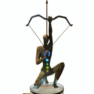 Yogic Concentration by Shashi Paul, Art Deco Sculpture | 3D, Bronze, Hillary color