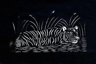 Sanjhi Art by Unknown Artist, Folk Painting, Hand Cut Paper, Bunker color