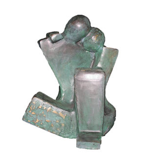 Moment by Sheela Chamariya, Art Deco Sculpture | 3D, Bronze, Woodsmoke color
