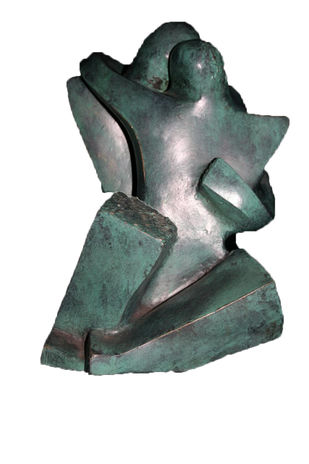 Stolen Moment by Sheela Chamariya, Art Deco Sculpture | 3D, Bronze, Nobel color