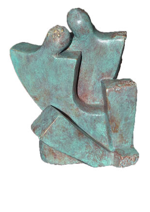 Moment by Sheela Chamariya, Art Deco Sculpture | 3D, Bronze, Dune color