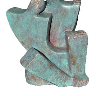 Moment by Sheela Chamariya, Art Deco Sculpture | 3D, Bronze, Dune color