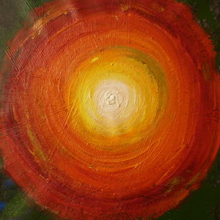 Circle of life by Mallika Seth, Abstract Painting, Acrylic on Canvas, Mikado color