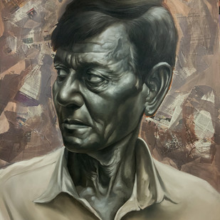 The stranger by Mk goyal, Photorealism Painting, Mixed Media, Makara color