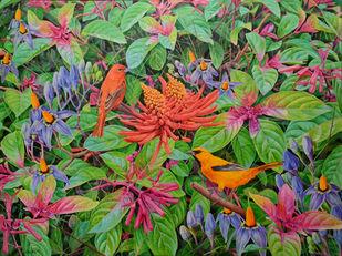 Nonhabitat by Kazi Nasir, Pop Art Painting, Acrylic on Canvas,