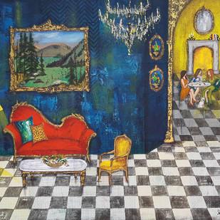 Baroque 48 Digital Print by Sheetal Singh,Expressionism