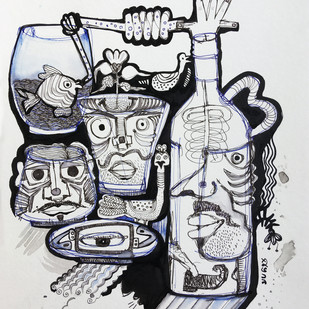 The Mature Expression by Shubharanjan Paul, Illustration Drawing, Pen & Ink on Paper, Iron color