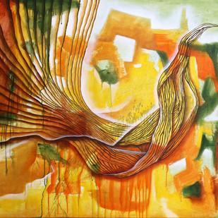 Untitled by Alamelu Annhamalai, Impressionism Painting, Acrylic on Canvas,