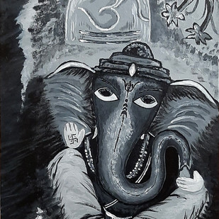 Bal Ganesh Digital Print by Tejal Bhagat,Decorative