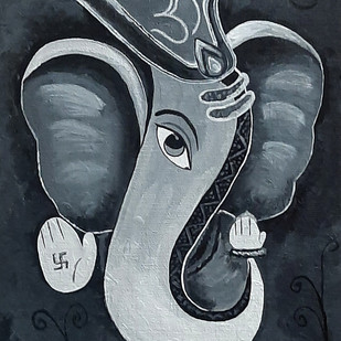 Shree Ganesh Digital Print by Tejal Bhagat,Decorative