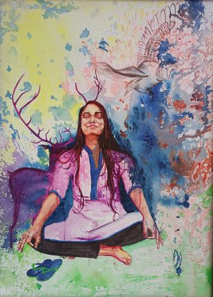 Nirvana Digital Print by Aishwarya Navani,Fantasy