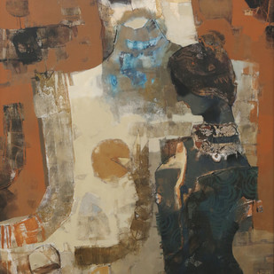 Untitled by Sachin Jaltare, Expressionism Painting, Mixed Media on Canvas,