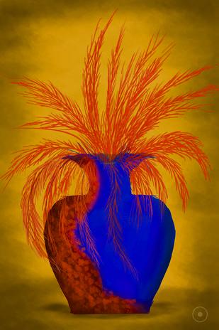 BOWL OF FEATHERS by Leya Srinivas, Digital Digital Art, Digital Print on Canvas,